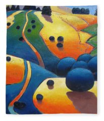 Uphill Climb Revisited. Fleece Blanket
