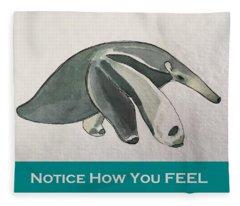 Uplifting Anteater  Fleece Blanket