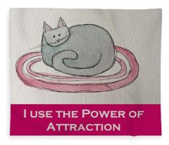 Uplifting Cat Fleece Blanket