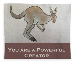 Uplifting Kangaroo Fleece Blanket