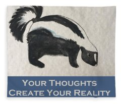 Uplifting Skunk Fleece Blanket