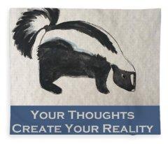 Uplifting Skunk Fleece Blanket