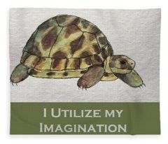 Uplifting Tortoise Fleece Blanket