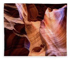 Upper Antelope Canyon Page Arizona Fleece Blanket