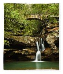 Upper Falls, Hocking Hills State Park Fleece Blanket