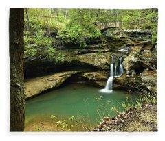 Upper Falls, Hocking Hills State Park 2 Fleece Blanket