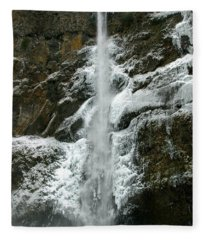Upper Multnomah Falls Ice Fleece Blanket