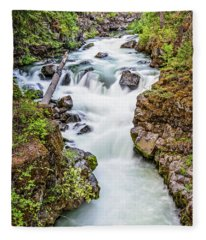 Upper Rogue River Fleece Blanket