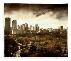 Upper West Side Of New York In Spring Fleece Blanket