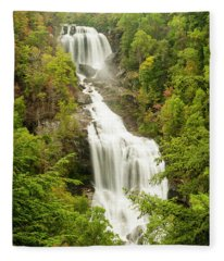 Upper Whitewater Falls Fleece Blanket