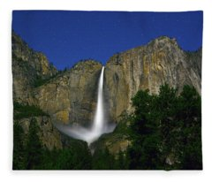 Upper Yosemite Falls Under The Stairs Fleece Blanket