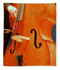 Upright Bass 3 Fleece Blanket