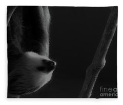 Upside Down Sloth Fleece Blanket