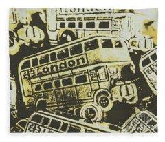 Urban Bus Mural Fleece Blanket