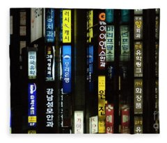 Urban City Light - Seoul Messages  Fleece Blanket