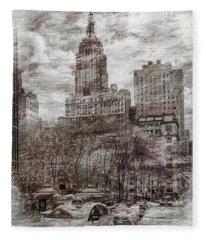 Empire State Building Fleece Blankets