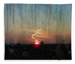 Urban Sunrise Fleece Blanket