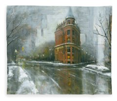 Urban Winter Fleece Blanket