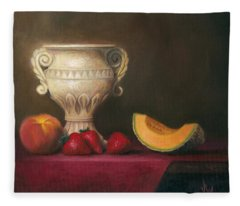 Urn With Fruit Fleece Blanket