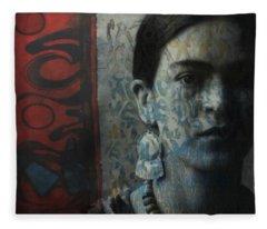 Us And Them - Frida Kahlo Fleece Blanket
