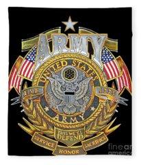 Us Army Fleece Blanket