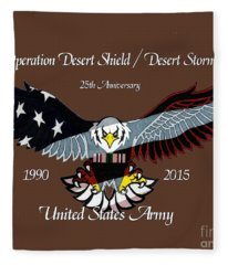 Us Army Desert Storm Fleece Blanket