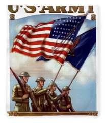 Us Army -- Guardian Of The Colors Fleece Blanket
