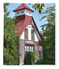 U.s. Lifesaving Station No 141 Fleece Blanket