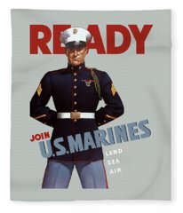 United States Marine Corps Fleece Blankets