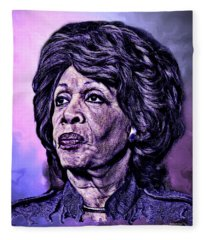 Us Representative Maxine Water Fleece Blanket