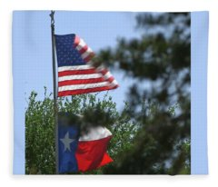 Usa Blesses Texas Fleece Blanket
