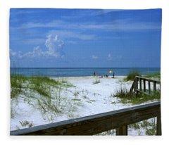 Usa, Florida, Gulf Of Mexico, St Fleece Blanket