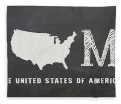 Usa Home Fleece Blanket