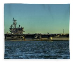 Uss George Hw. Bush Fleece Blanket