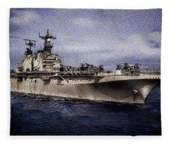 Uss Iwo Jima Lph2 Fleece Blanket