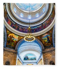 Utah State Capitol Rotunda #2 Fleece Blanket