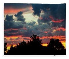 Utah Sunset Fleece Blanket