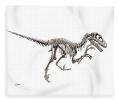 Utahraptor Fleece Blanket