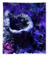 Uw Coral Stone Fleece Blanket