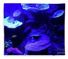 Uw Neon Coral Fleece Blanket