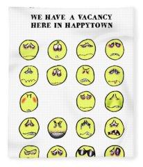 Vacancy In Happytown Fleece Blanket