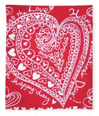 Valentine Heart Fleece Blanket