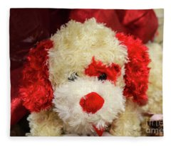 Valentine Puppy Fleece Blanket