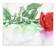 Valentine Rose Fleece Blanket