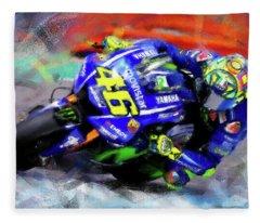 Valentino Rossi - 02 Fleece Blanket