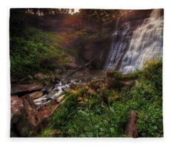 Valley Of Golden Light Fleece Blanket