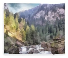Valley Of Light And Shadow Fleece Blanket