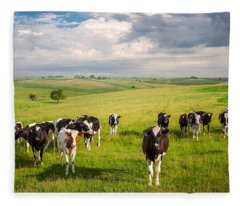 Valley Of The Cows Fleece Blanket