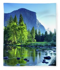 Valley View Morning Fleece Blanket