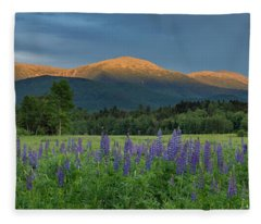 Valley Way Lupine Sunset Fleece Blanket